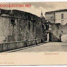 Postales: FUENTERRABIA. LA ENTRADA. RÖMMLER & JONAS. REVERSO SIN DIVIDIR. SIN CIRCULAR. Lote 16573076