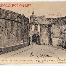 Postales: FUENTERRABIA. PUERTA PRINCIPAL. ED. ND FOT. REVERSO SIN DIVIDIR. CIRCULADA EN 1905. Lote 2744808