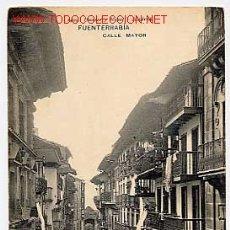 Postales: FUENTERRABIA. CALLE MAYOR. HAUSER Y MENET. Nº 1499. REVERSO SIN DIVIDIR, SIN CIRCULAR. Lote 2750339