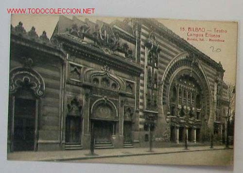 Tarjeta postal bilbao teatro campos eliseos comprar - Teatro campos elisios ...