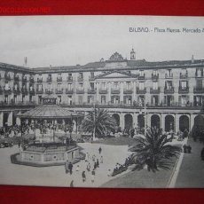 Postales: BILBAO, PLAZA NUEVA. MERCADO AGRICOLA, ( VIZCAYA ) TP337 . Lote 10817822