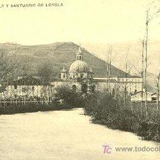 Postales: TARJETA POSTAL DE AZPEITIA.GUIPUZCOA.EL RIO UROLA Y SANTUARIO DE LOYOLA. Lote 9813947