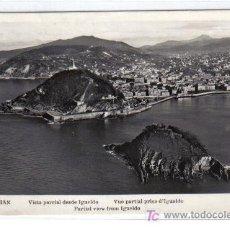 Postales: SAN SEBASTIAN - VISTA PARCIAL DESDE IGUELDO . Lote 27546203
