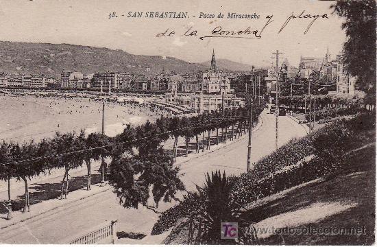 38.SAN SEBASTIAN.PASEO DE MIRACONCHA.FOTO EDITOR GREGORIO G. GALARZA (Postales - España - País Vasco Moderna (desde 1940))
