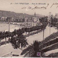 Postales: 38.SAN SEBASTIAN.PASEO DE MIRACONCHA.FOTO EDITOR GREGORIO G. GALARZA. Lote 10024452