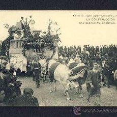 Postales: POSTAL DE SAN SEBASTIAN (GUIPUZCOA): CARNAVAL DE 1908: LA CONSTRUCCION (M.AGUIRRE) (ANIMADA). Lote 10337572