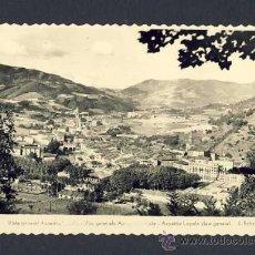 Postales: POSTAL DE AZPEITIA (GUIPUZCOA): VISTA GENERAL DE AZPEITIA LOYOLA. Lote 10349399