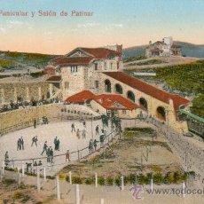 Postales: BILBAO. FUNICULAR Y SALÓN DE PATINAR. POSTAL COLOR, C. 1915. BI. Lote 21749652