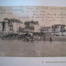 Cartes Postales: POSTAL BILBAO: PLAYA DE LAS ARENAS (GL). Lote 11547097