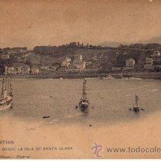 Postales: Nº 17989 POSTAL SAN SEBASTIAN HAUSER Y MENET SIN DIVIDIR BARCOS. Lote 25598515