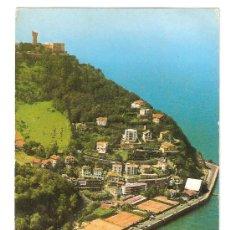 Cartoline: SAN SEBASTIAN. INSTALACIONES DEL CLUB DE TENIS Y MOMNTE IGUELDO CIRCULADA EN 1972. Lote 12711168