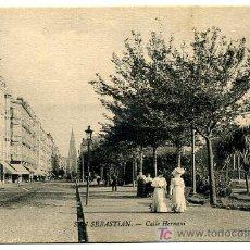 Postales: SAN SEBASTIAN, CALLE HERNANI, P24986. Lote 11780819