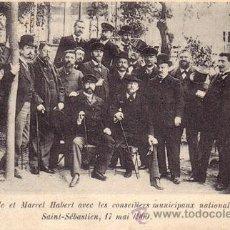 Postales: Nº 17850 POSTAL SAN SEBASTIAN PAUL DEROULEDE Y MARCEL HEBERT Y MUNICIPALES NACIONALISTAS 1900. Lote 25828886