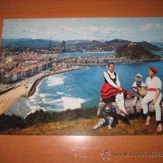 Postales: 60.-SAN SEBASTIAN VISTA DESDE EL MONTE ULIA -MANIPEL 1972.-CIRCULADA. Lote 12527504