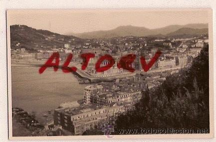 ANTIGUA POSTAL 116 SAN SEBASTIAN VISTA DESDE MONTE URGULL FOTO GALARZA (Postales - España - País Vasco Moderna (desde 1940))