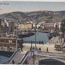 Postales: BILBAO. MUELLES DEL ARENAL ( TRANVIA ). L.G. CIRCULADA. Lote 12675172