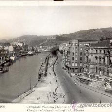Postales: BILBAO. CAMPO DE VOLANTÍN Y MUELLE URIBITARTE. POSTAL BLANCO Y NEGRO, C. 1960. BI. Lote 26228705
