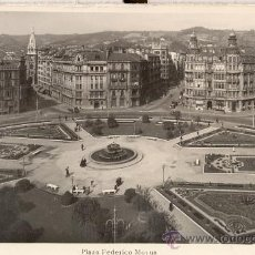 Postales: BILBAO. PLAZA FEDERICO MOYÚA. POSTAL BLANCO Y NEGRO, C. 1960. BI. Lote 21183936