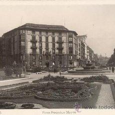 Postales: BILBAO. PLAZA FEDERICO MOYÚA. POSTAL BLANCO Y NEGRO, C. 1960. BI. Lote 26289394
