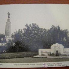 Postales: BILBAO. PARQUE DEL ENSANCHE FUENTE Y MONUMENTO DEL SAGRADO CORAZÓN.. Lote 14085609