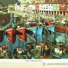 Postales: SAN SEBASTIAN, EL PUERTO, AÑO 1969, GRAFICAS FOURNIER, SIN USAR. Lote 13446480
