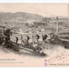 Postales: TARJETA POSTAL DE VIZCAYA. PUENTE NUEVO-BOLUETA.1030 LANDABURU HERMANAS.VER FOTO REVERSO. Lote 19055068