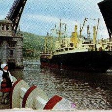 Postales: POSTAL BILBAO, PUENTE DEL GENERALISIMO, ESCRITA. Lote 13993450