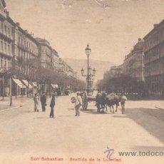 Postales: SAN SEBASTIÁN- AVENIDA DE LA LIBERTAD. Lote 13987532