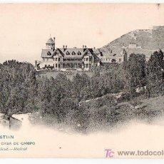 Postales: TARJETA POSTAL DE SAN SEBASTIAN. REAL CASA DE CAMPO. 904 HAUSER Y MENET. Lote 235536100