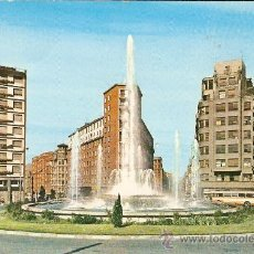 Postales: BILBAO.FUENTE MONUMENTAL DE LA PLAZA ZABALBURU. Lote 14248552
