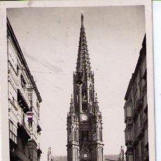 Postales: SAN SEBASTIÁN. EL BUEN PASTOR-CATEDRAL. FRANQUEADO Y FECHADO 8-AGOSTO 1952. Lote 14296005