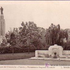Cartes Postales: BILBAO - PARQUE DEL ENSANCHE - FUENTE Y MONUMENTO SAGRADO CORAZON - L. ROISIN. Lote 26475732