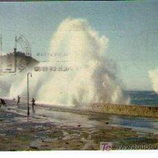 Postales: SAN SEBASTIÁN.- TEMPORAL. FRANQUEADO Y FECHADO EN 1960. Lote 14845974