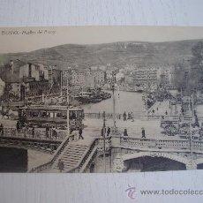 Postales: BILBAO - MUELLES DEL ARENAL - TRANVIA. Lote 25351418