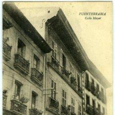 Postales: POSTAL FUENTERRABIA HONDARRIBIA CALLE MAYOR. Lote 15376332