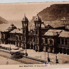 Postales: SAN SEBASTIÁN.-EL GRAN CASINO. FRANQUEADA Y FECHADA EN 1948.. Lote 15431926