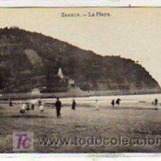 Postales: ZARAUZ. GUIPUZCOA. LA PLAYA. FOTOTIPIA J. ROIG. MADRID SIN CIRCULAR.. Lote 15481357