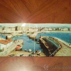 Postales: ANTIGUA POSTAL DOBLE PANORAMICA. SAN SEBASTIAN. 1966. Lote 22945761