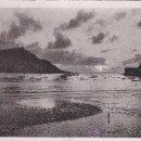 Postales: SAN SEBASTIAN: LA BAHIA: PUESTA DE SOL: FOTOTIPIA HAUSER Y MENET CIRCULADA 1940. DOBLE CENSURA. RARA. Lote 15613793