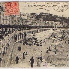 Postales: SAN SEBASTIAN - PASEO DE LA CONCHA, EDT. G.G. GALARZA, CIRCULADA Y SELLADA Y RESELLADA 1922 . Lote 26912992