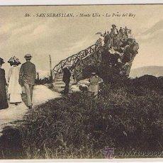 Postales: SAN SEBASTIAN, EDT. G.G.GALARZA, SIN CIRCULAR, ULIA (PASEO EN LA PEÑA DEL REY). Lote 27388192