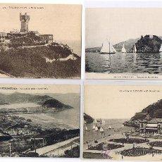 Postales: SAN SEBASTIAN - EDIT. 3 G.G.GALARZA, 1 M.HERMANOS, 4 POSTALES DE SAN SEBASTIÁN, (1 MUY ANTIGUA) . Lote 26380063