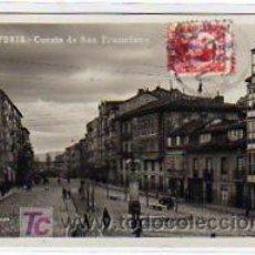 Postales: ALAVA. VITORIA. CUESTA DE SAN FRANCISCO. G.H. ALSINA. MADRID. 5. MÁRGARA. CIRCULADA.. Lote 15922952