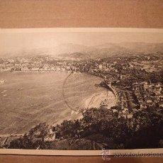 Postales: ANTIGUA POSTAL DE SAN SEBASTIÁN, VISTA DESDE EL MONTE IGUELDO. CIRCULADA. AÑO 1948. . Lote 16014574