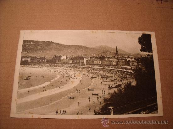 ANTIGUA POSTAL SAN SEBASTIAN VISTAS A LA CONCHA DESDE MIRAMAR CIRCULADA FOTO GALARZA. Nº 49 P-1535 (Postales - España - País Vasco Moderna (desde 1940))