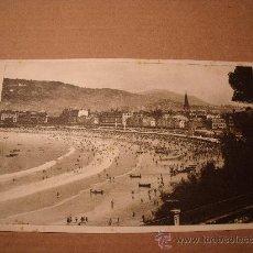Postales: ANTIGUA POSTAL SAN SEBASTIAN VISTAS A LA CONCHA DESDE MIRAMAR CIRCULADA FOTO GALARZA. Nº 49 P-1535. Lote 16014844