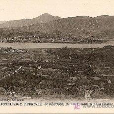 Postales: PANORAMA DE FONTARABIE. D'HENDAYE. DE BÉHOBIE, ILE DES FAISANS ET DE LA CHAINE DE PYRÉNÉES. Lote 16299755