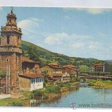 Postales: TARJETA POSTAL DE VALMASEDA IGLESIA DE SAN JUAN Y RIO CADAGUA VIZCAYA . Lote 16340627