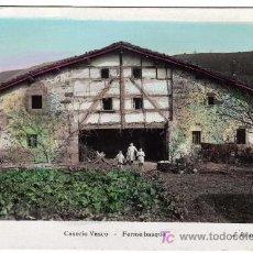 Postales: PRECIOSA POSTAL - CASERIO VASCO - NIÑOS A LA PUERTA DEL CASERIO . Lote 16370152