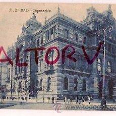 Postales: ANTIGUA POSTAL 31 BILBAO DIPUTACION GRAFOS MADRID. Lote 16399336